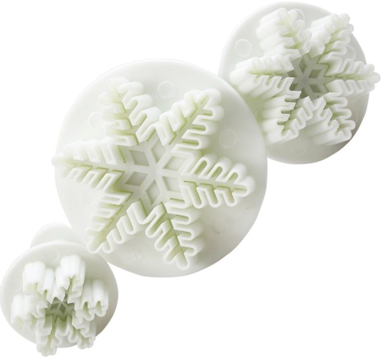 Cake Snowflake Plunger Cutter