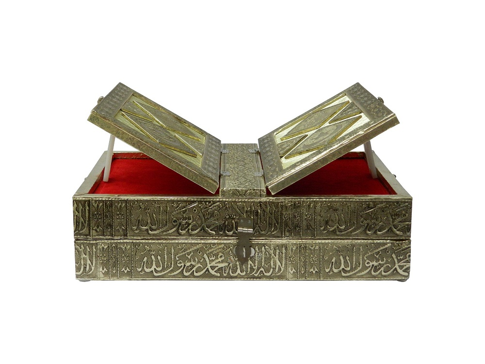 Handcrafted Quran Box With Book Stand On Top