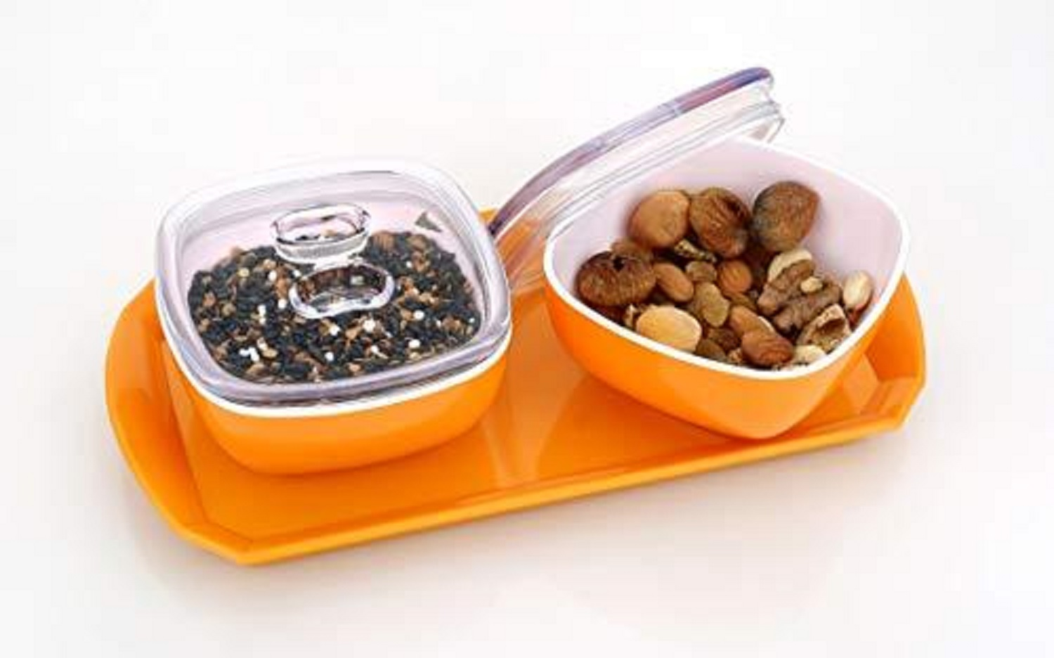 Multipurpose Dryfruit Box with 2 Bowl and Tray