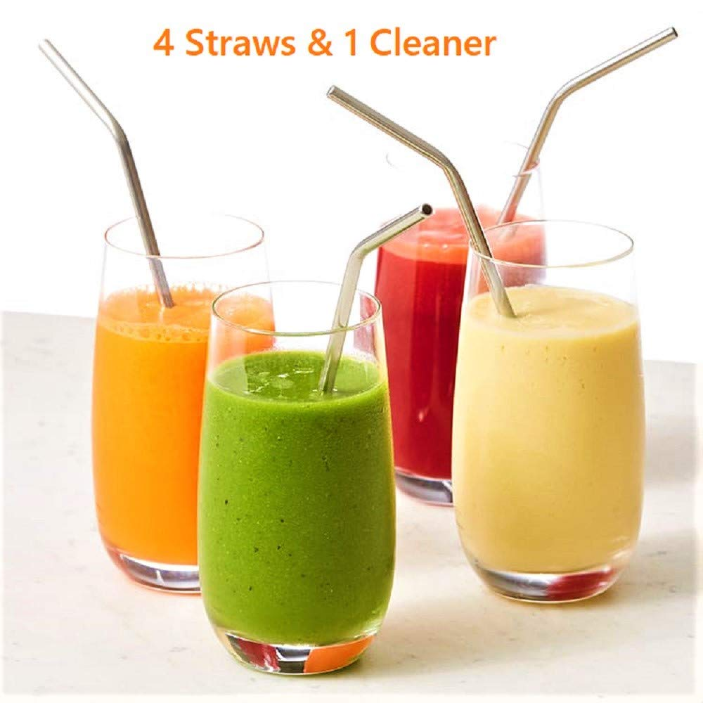 Reusable Stainless Steel Straw with Cleaning Brush