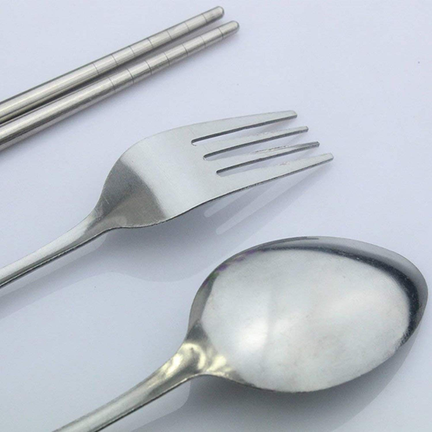 Traveling Cutlery Spoon Set With Pouch